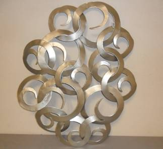 Acma decoraciones adorno de laton plateado para pared for Decoracion pared metal